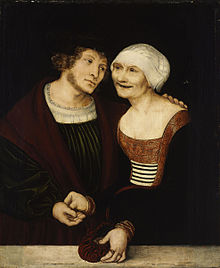 Cougar couple by Cranach