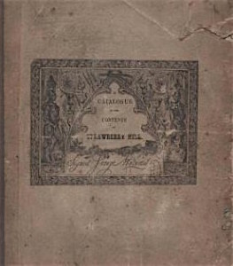 Strawberry Hill catalogue 1842