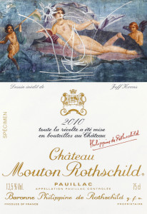 Jeff Koons has become the latest in a long line of illustrious artists to produce a label for the equally celebrated wine of Chateau Mouton Rothschild