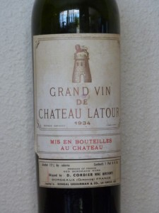 bordeaux chateau bottled 1934